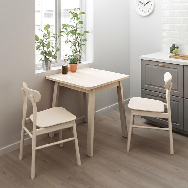 NORRÅKER table birch 74 cm 74 cm 74 cm