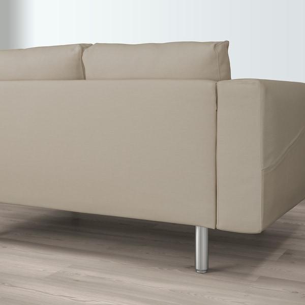 NORSBORG corner sofa, 5-seat with chaise longue/Edum beige/metal 157 cm 88 cm 85 cm 129 cm 303 cm 225 cm 18 cm 60 cm 43 cm