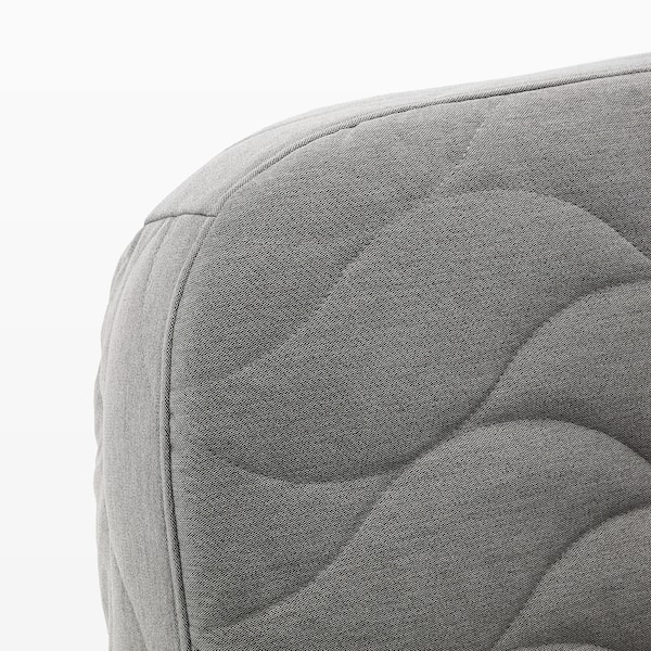NYHAMN Sofa-bed with triple cushion, with foam mattress/Knisa grey/beige