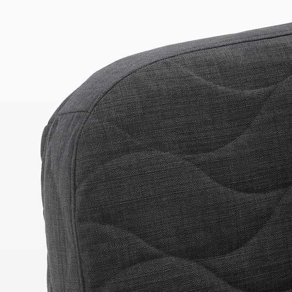 NYHAMN Sofa-bed with triple cushion, with pocket spring mattress/Skiftebo anthracite