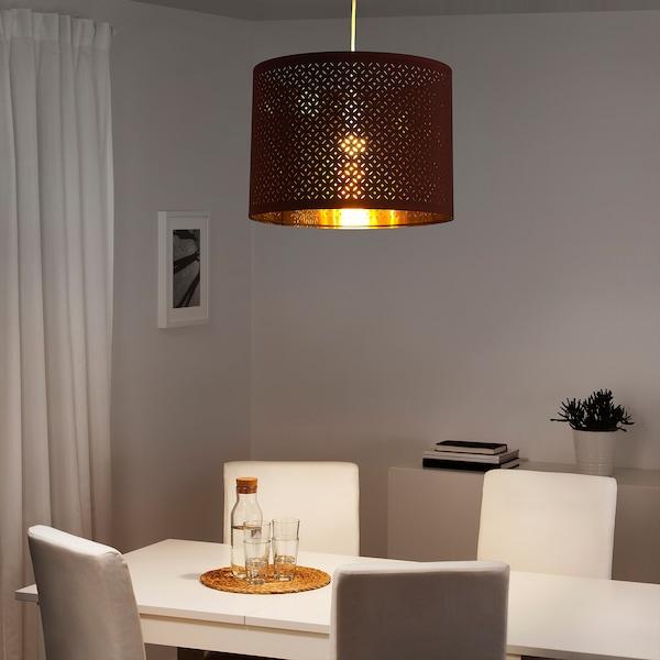 NYMÖ Lamp shade, dark red/brass-colour, 44 cm
