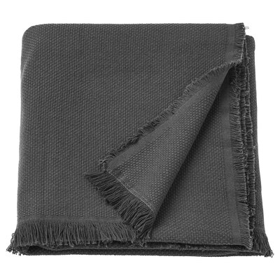 ODDRUN Throw, grey, 130x170 cm