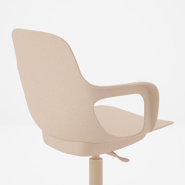 ODGER كرسي دوّار, أبيض/بيج