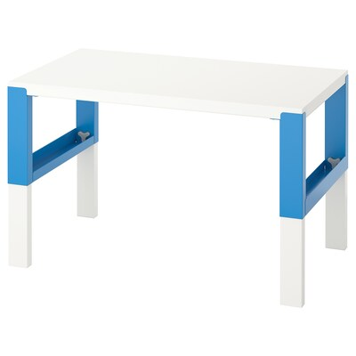 PÅHL Desk, white/blue, 96x58 cm