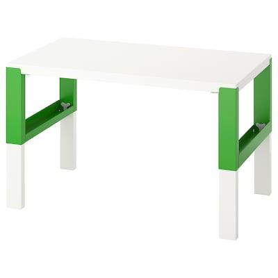 PÅHL Desk, white/green, 96x58 cm