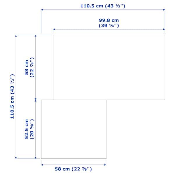 PAX خزانة ملابس زاوية, أبيض/Grimo أبيض, 111/111x236 سم