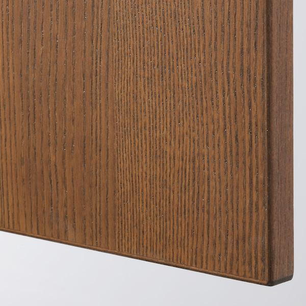 PAX / FORSAND/VIKEDAL تشكيلة خزانة ملابس., مظهر الخشب مصبوغ بني/زجاج مرايا, 150x60x236 سم