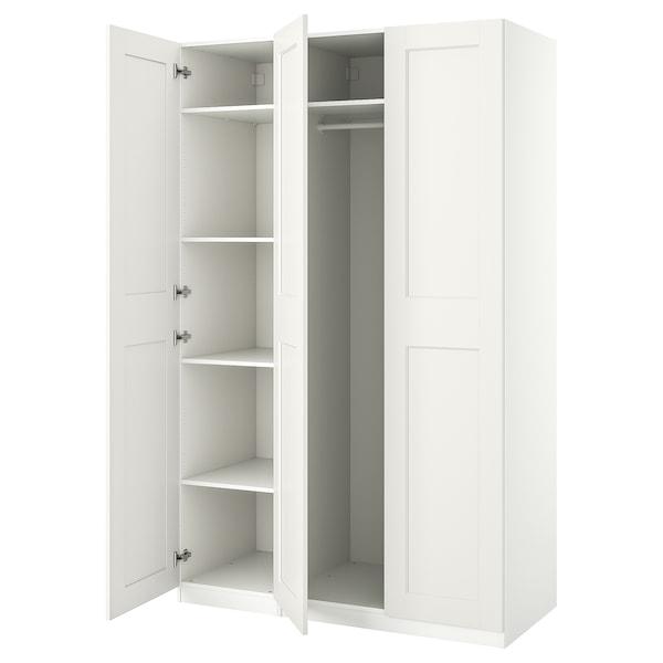 PAX / GRIMO تشكيلة خزانة ملابس., أبيض, 150x60x236 سم