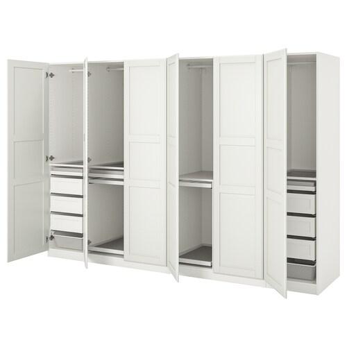 PAX / TYSSEDAL wardrobe combination white/white 300.0 cm 60.0 cm 201.2 cm