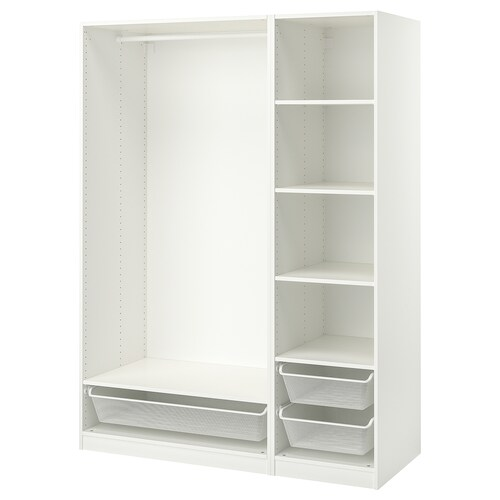 PAX wardrobe combination white 150.0 cm 58.0 cm 201.0 cm
