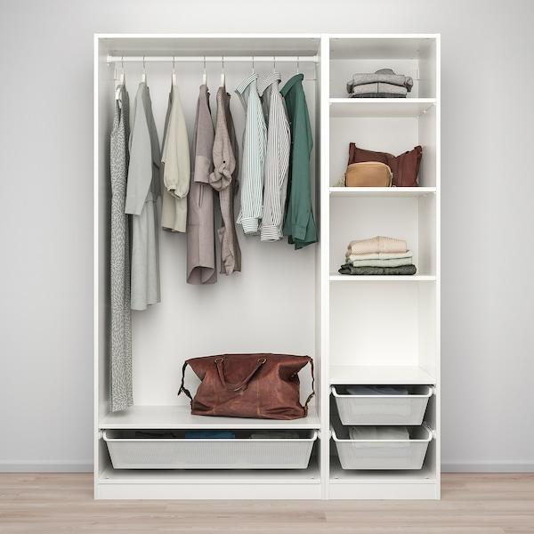PAX تشكيلة خزانة ملابس., أبيض, 150x58x201 سم