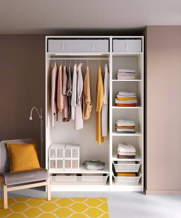 PAX تشكيلة خزانة ملابس., أبيض, 150x58x236 سم