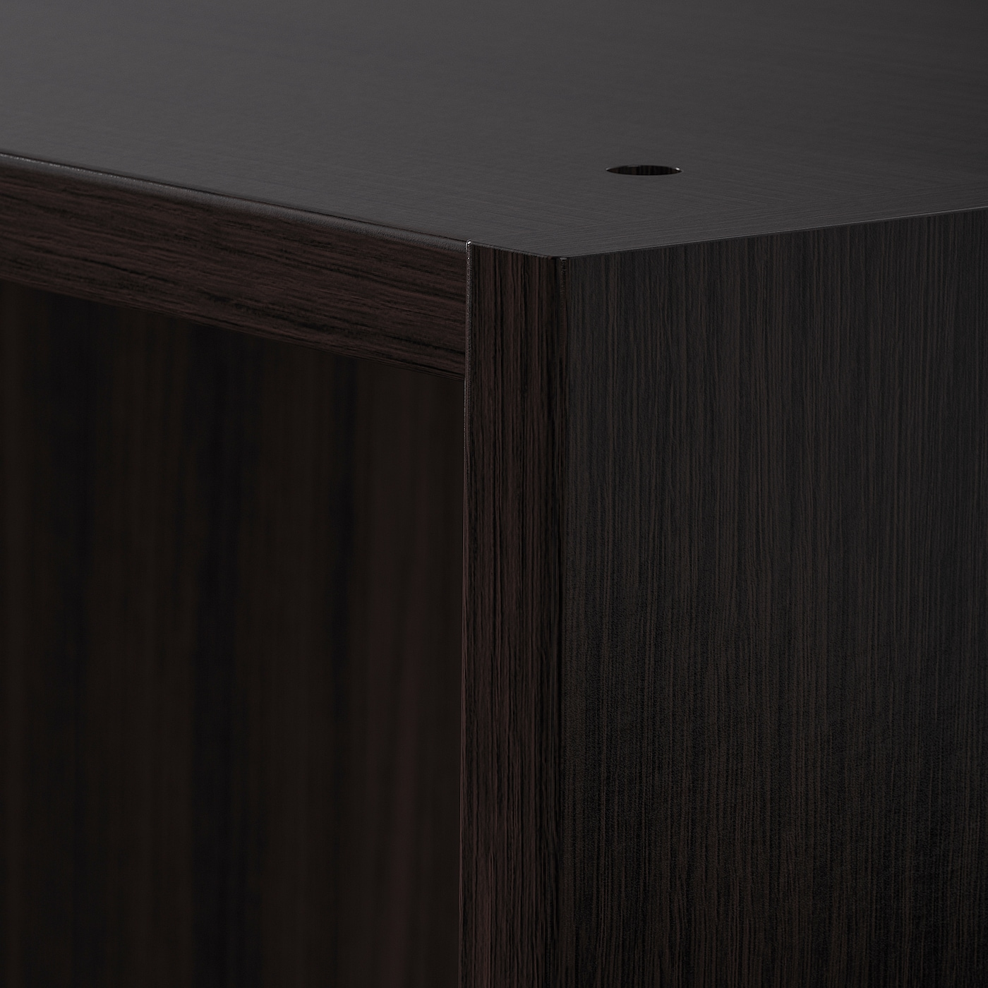 PAX هيكل خزانة الملابس, أسود-بني, 50x58x236 سم