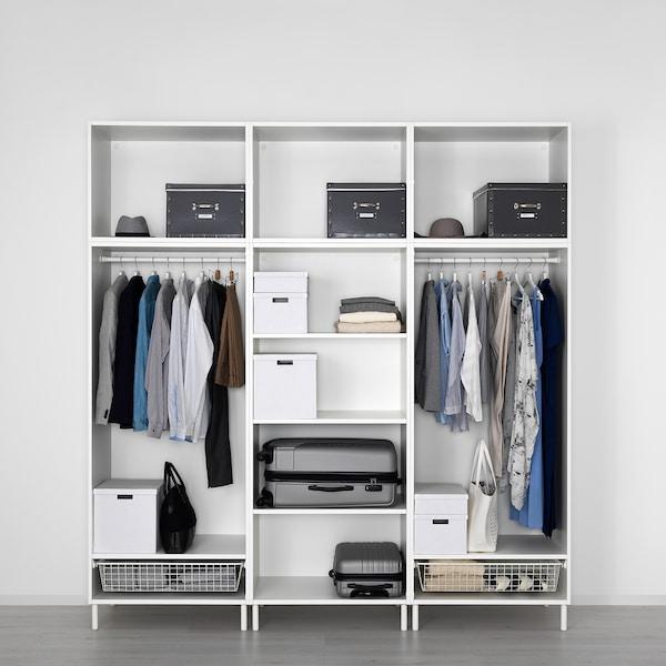 PLATSA خزانة ملابس, أبيض/Fonnes أبيض, 240x57x251 سم