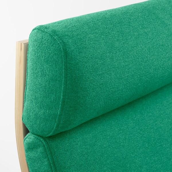POÄNG Armchair, birch veneer/Lysed bright green