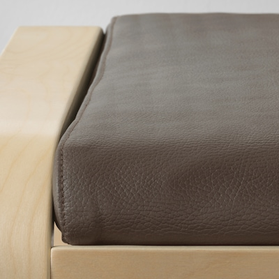 POÄNG Footstool cushion, Glose dark brown