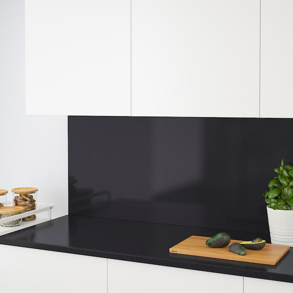 RÅHULT custom made wall panel black stone effect/quartz 10 cm 300 cm 10 cm 120 cm 2.0 cm 1.00 m²