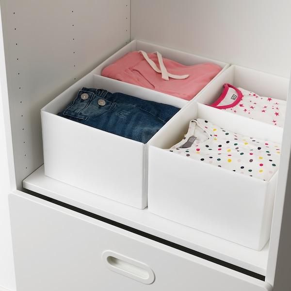 RASSLA box with compartments white 25 cm 41 cm 16 cm 2 pack