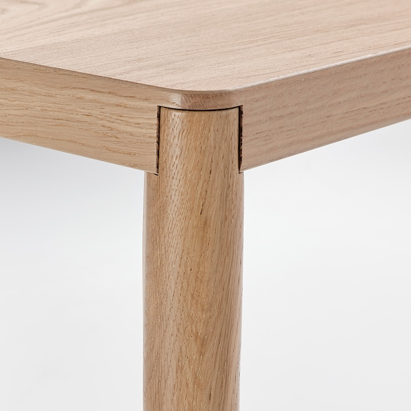 RÅVAROR Console table, oak veneer, 130x45x74 cm