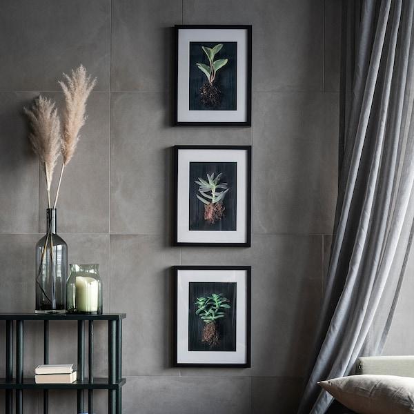 21x30 cm Black//Photo Frame//Picture Frame 2 Piece Set Ikea Ribba