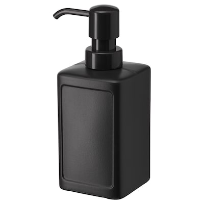 RINNIG Soap dispenser, grey, 450 ml
