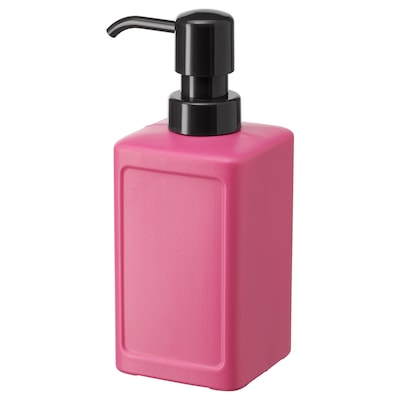 RINNIG Soap dispenser, pink, 450 ml