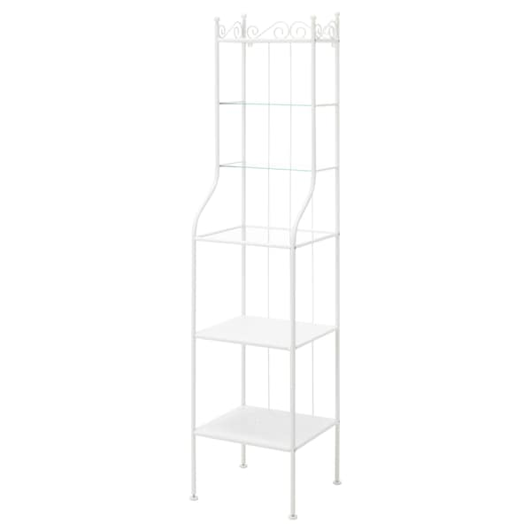 RÖNNSKÄR Shelving unit, white, 42x176 cm