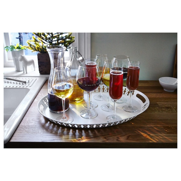 ROMANTISK Tray, white, 52x39 cm