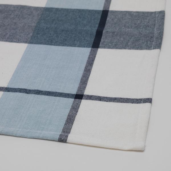 RUTIG شرشف طاولة, نقش كاروهات أزرق, 145x240 سم