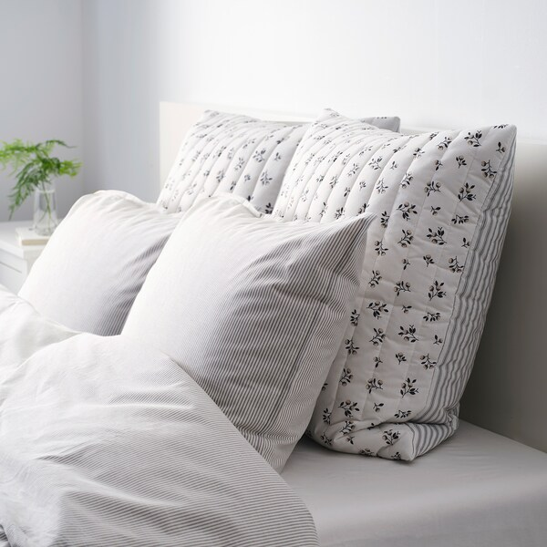 SANDLUPIN cushion cover white/grey 65 cm 65 cm 40 g 143 g