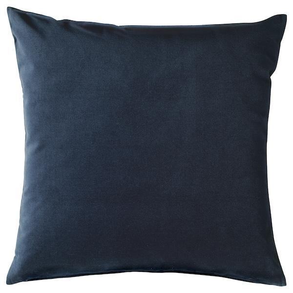 SANELA Cushion cover, dark blue, 50x50 cm