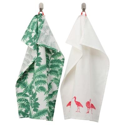 SILVERPOPPEL Tea towel, patterned green/white, 50x70 cm