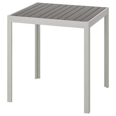 SJÄLLAND طاولة، خارجية, رمادي غامق/رمادي فاتح, 71x71x73 سم