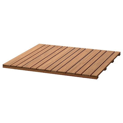 SJÄLLAND Table top, light brown, 67x67 cm