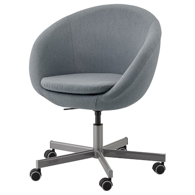 SKRUVSTA Swivel chair, Vissle grey