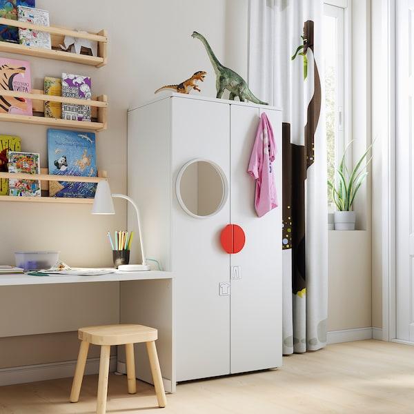 SMÅSTAD خزانة ملابس, أبيض/أبيض, 60x42x123 سم