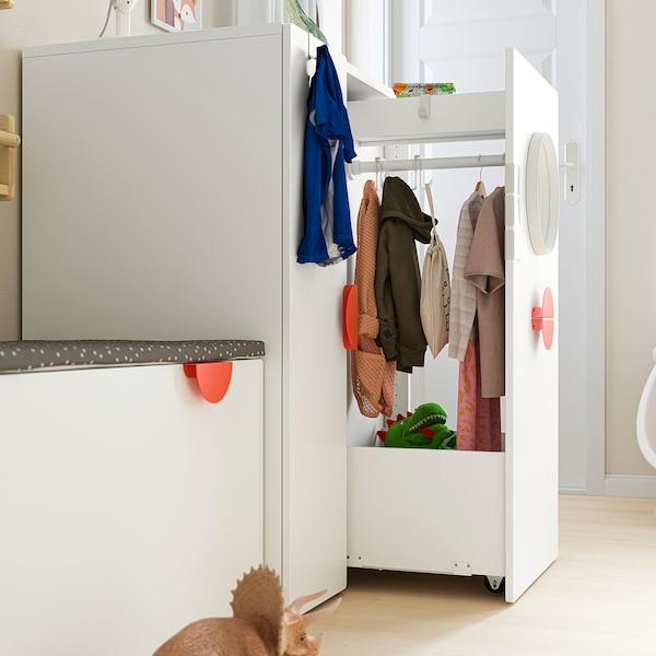 SMÅSTAD خزانة ملابس مع وحدة تُسحب للخارج, أبيض, 80x57x108 سم