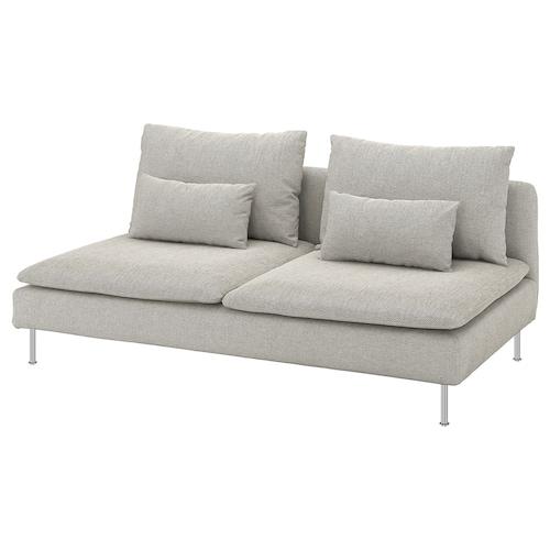 SÖDERHAMN 3-seat section Viarp beige/brown 186 cm 99 cm 83 cm 186 cm 48 cm 40 cm