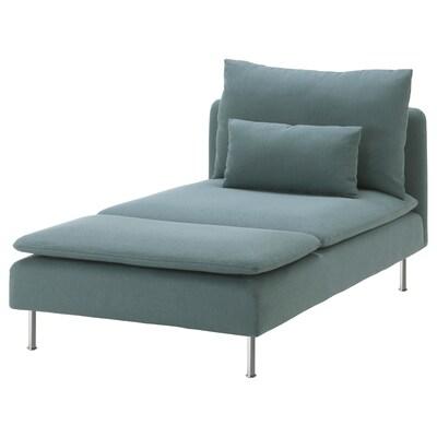 SÖDERHAMN Chaise longue, Finnsta turquoise
