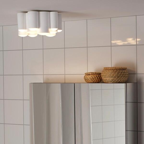 SÖDERSVIK إضاءة سقف LED, أبيض/لمّاع, 21 سم