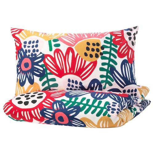 SOMMARASTER quilt cover and 2 pillowcases white/multicolour 152 /inch² 2 pack 220 cm 240 cm 50 cm 80 cm