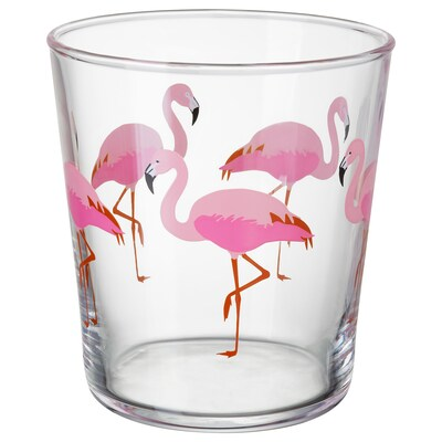 SOMMARFINT Glass, flamingo, 23 cl