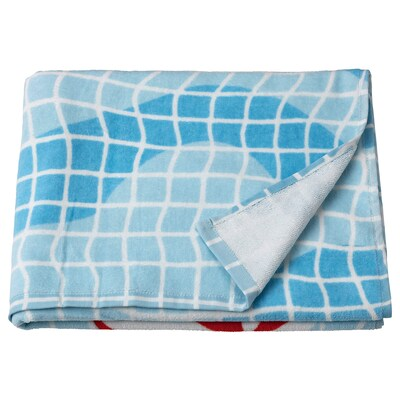 SPORTSLIG منشفة حمّام, نقش حمام السباحة, 70x140 سم
