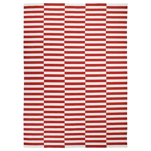 STOCKHOLM 2017 Rug, flatwoven, handmade/striped red, 250x350 cm
