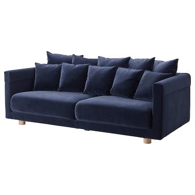 STOCKHOLM 2017 أريكة ثلاث مقاعد, Sandbacka أزرق غامق