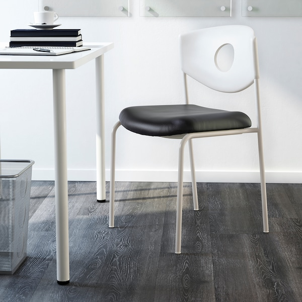 STOLJAN Conference chair, white/black
