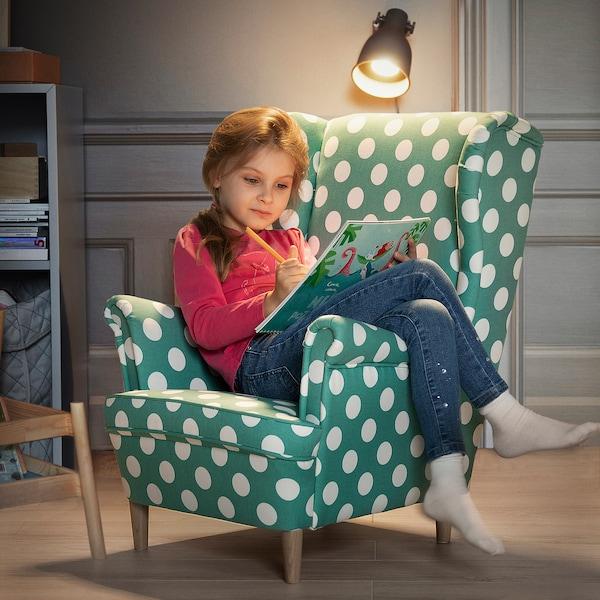 STRANDMON كرسي أطفال مع مساند للذراعين, Ebbetorp تركواز