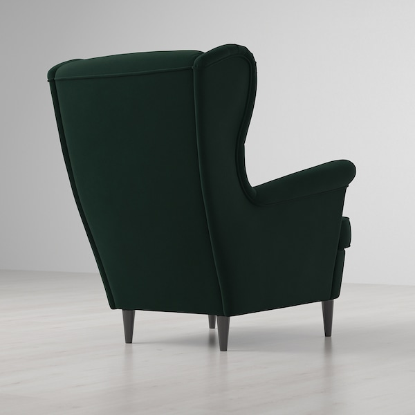 STRANDMON wing chair Djuparp dark green 82 cm 96 cm 101 cm 49 cm 54 cm 45 cm