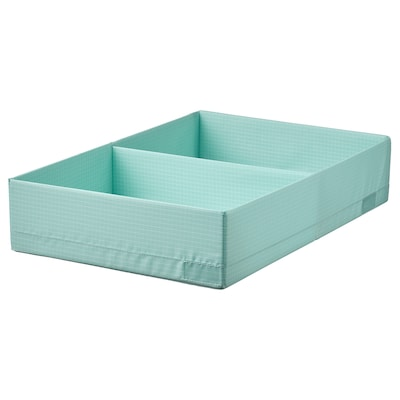 STUK Box with compartments, light turquoise, 34x51x10 cm
