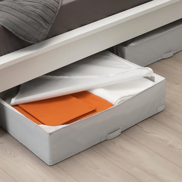 STUK حقيبة تخزين, أبيض/رمادي, 71x51x18 سم